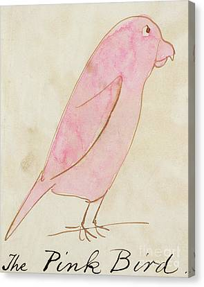 The Pink Bird Canvas Print by Edward Lear