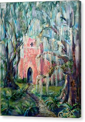 The Pink Chapel Canvas Print