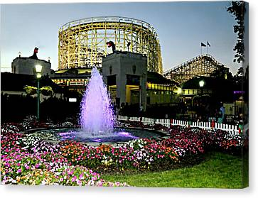 The Pink Fountain Canvas Print by Diana Angstadt