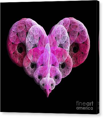 The Pink Heart Canvas Print by Andee Design