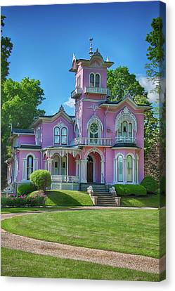 The Pink House Canvas Print by Guy Whiteley