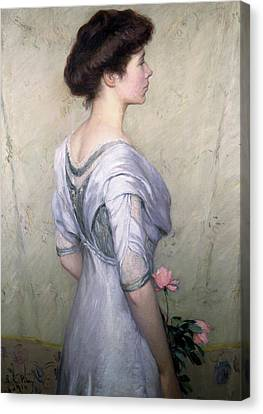 The Pink Rose Canvas Print by Lilla Cabot Perry