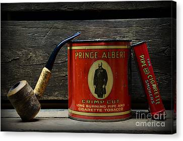 The Pipe Smoker Canvas Print by Paul Ward