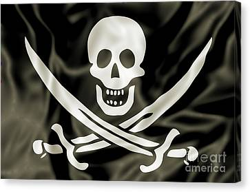 the Pirate Flag Canvas Print by Benny Marty