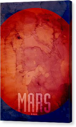 Solar Canvas Print - The Planet Mars by Michael Tompsett