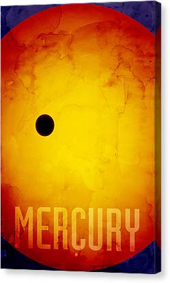 The Planet Mercury Canvas Print by Michael Tompsett
