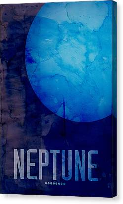 The Planet Neptune Canvas Print by Michael Tompsett