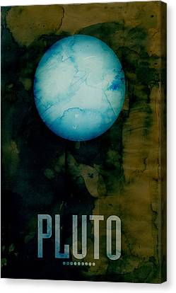 The Planet Pluto Canvas Print by Michael Tompsett