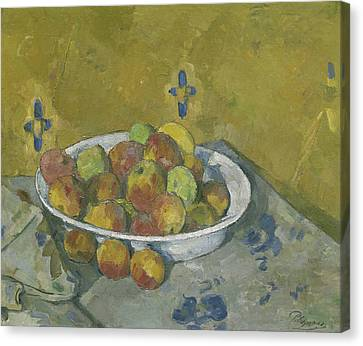 The Plate Of Apples Canvas Print by Paul Cezanne