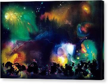 The Plateau Of Ancient Dreams Canvas Print by Lee Pantas