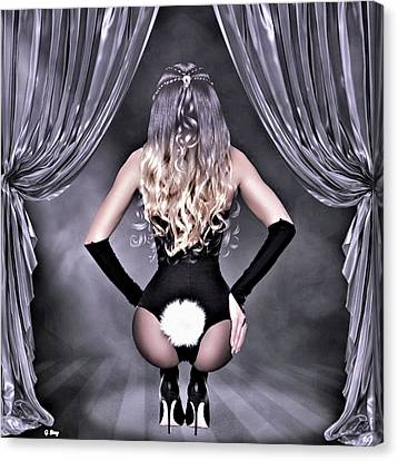 Playboy Bunny Canvas Print - The Playboy Bunny by G Berry