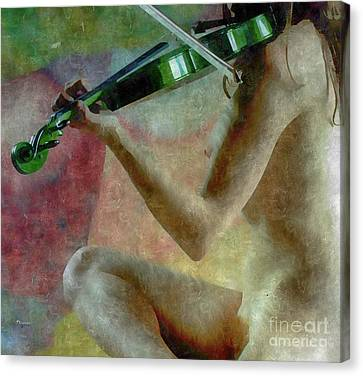The Playing Of Art Canvas Print by Steven Digman