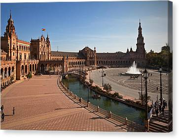 Andalucia Canvas Print - The Plaza De Espana, In Maria Luisa by Panoramic Images