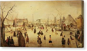 The Pleasures Of Winter Canvas Print by Hendrik Avercamp