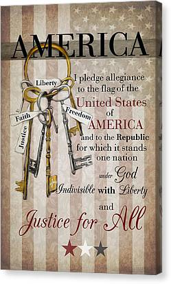 Canvas Print featuring the photograph The Pledge by Robin-Lee Vieira