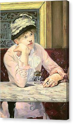 Table Canvas Print - The Plum by Edouard Manet