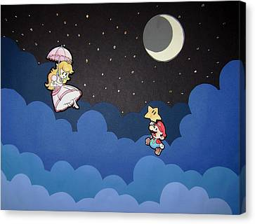 The Plumber And The Princess Canvas Print by Kenya Thompson