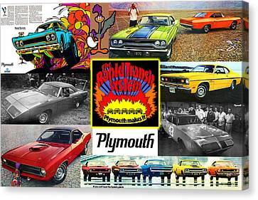 Gratiot Canvas Print - The Plymouth Rapid Transit System Collage by Digital Repro Depot