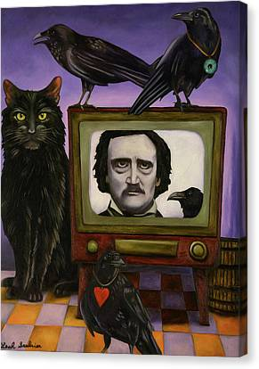 The Poe Show Canvas Print by Leah Saulnier The Painting Maniac