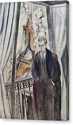 The Poet Philippe Soupault Canvas Print by Robert Delaunay