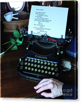 The Poet's Desk  Canvas Print