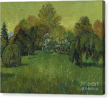 The Poet's Garden Canvas Print