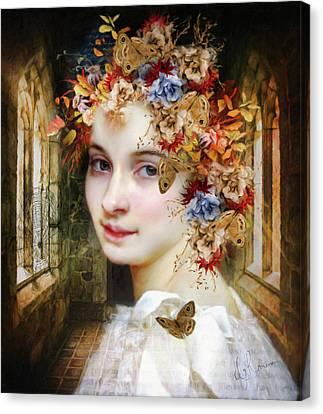 The Poets Lover Canvas Print by Georgiana Romanovna