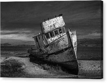 The Point Reyes In Black And White Canvas Print by Bill Gallagher