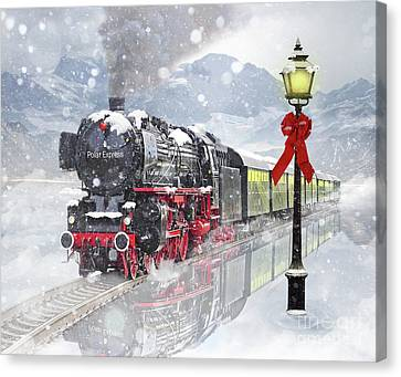 The Polar Express Canvas Print by Juli Scalzi