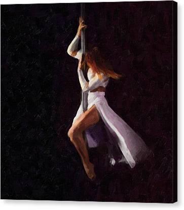 The Pole Dance 3 Canvas Print