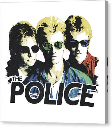 Canvas Print featuring the digital art The Police by Gina Dsgn