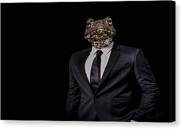 The Politician Canvas Print by Paul Neville