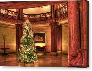 The Ponce Lobby Christmas Atlanta Georgia Canvas Print by Reid Callaway