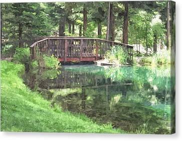 The Pond Bridge Canvas Print