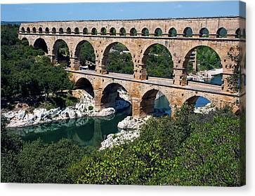 The Pont Du Gard Canvas Print by Sami Sarkis