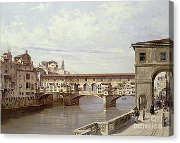 Tuscan Canvas Print - The Pontevecchio - Florence  by Antonietta Brandeis