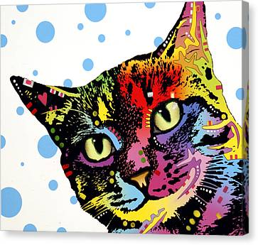 The Pop Cat Canvas Print by Dean Russo