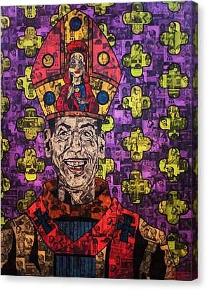 Polyester-film Canvas Print - The Pope Of Trash by Brent Andrew Doty