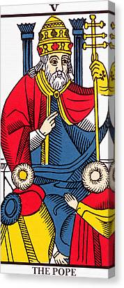 The Pope Tarot Card Canvas Print