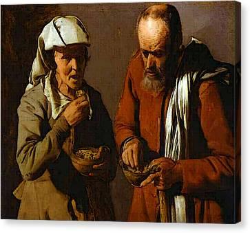 Porridge Canvas Print - The Porridge Eaters Abc by Georges de La Tour