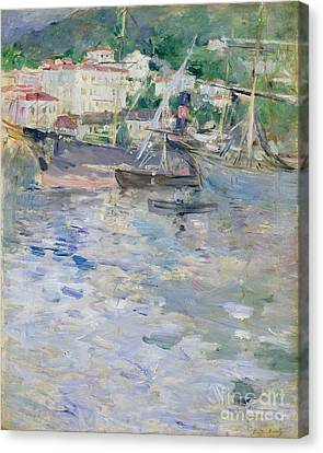 Port Town Canvas Print - The Port At Nice by Berthe Morisot