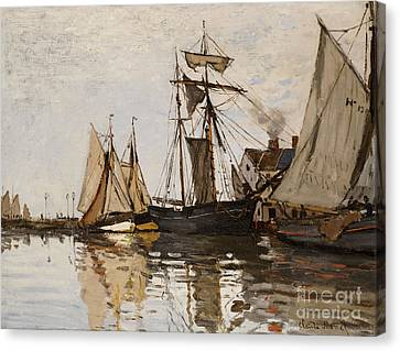 Navy Canvas Print - The Port Of Honfleur by Claude Monet