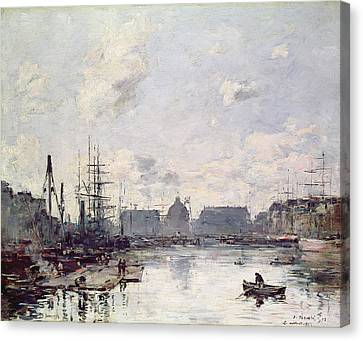 The Port Of Trade Canvas Print by Eugene Louis Boudin