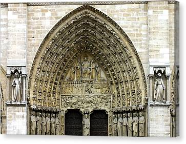 The Portal Of The Last Judgement Of Notre Dame De Paris Canvas Print by Fabrizio Troiani