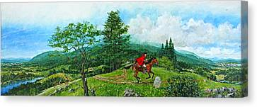 Canvas Print featuring the painting The Post Road by Cliff Spohn