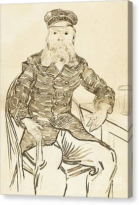 The Postman Joseph Roulin Canvas Print by Vincent Van Gogh