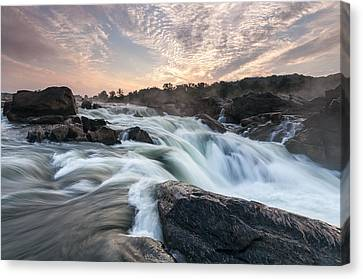 The Potomac River At Great Falls Canvas Print by Mark VanDyke