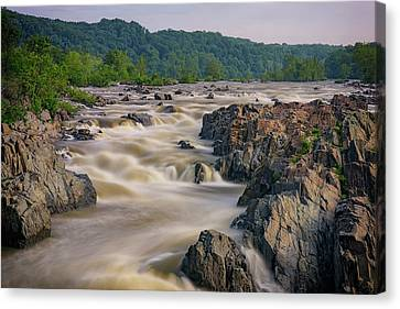 The Potomac River At Great Falls Canvas Print