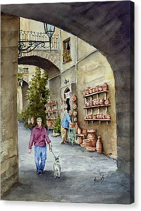 The Pottery Shop Canvas Print by Sam Sidders