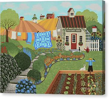 The Potting Shed Canvas Print by Mary Charles